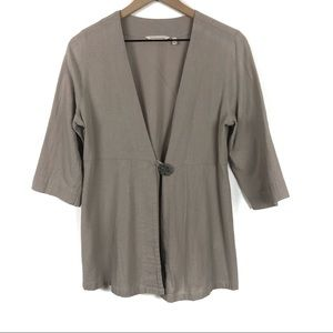 🦋Soft Surroundings Tunic Top One Button Front PS